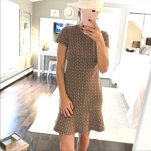 LOFT blue beige print adorable dress size 00P